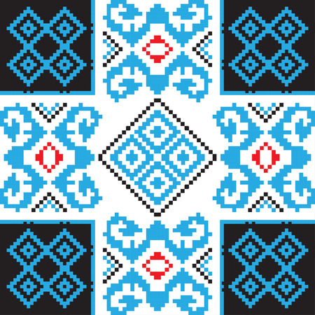 polish lithuanian: Ethnic ornament, seamless pattern. Vector illustration. From collection of Balto-Slavic ornaments