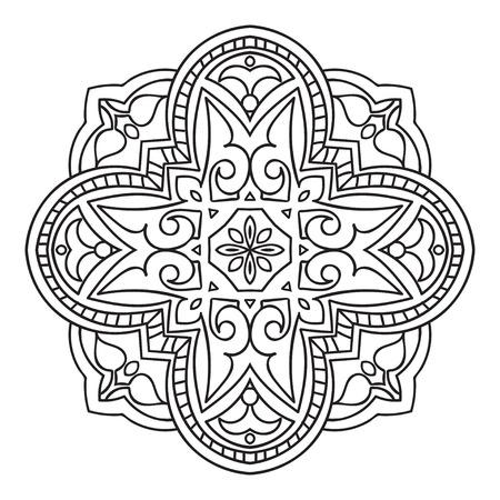 majolica: Circular pattern. Islamic ethnic ornament Vector illustration. Illustration