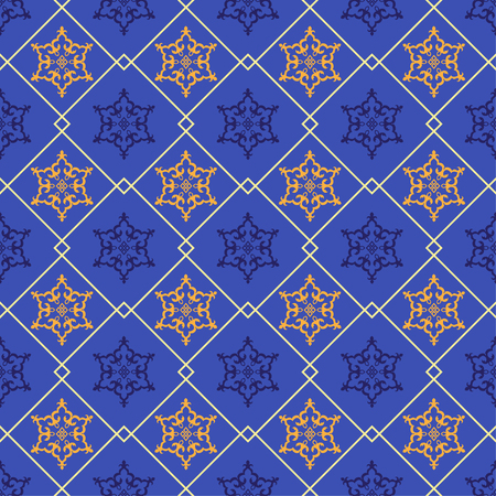 allah: Abstract seamless patterns in Islamic style. Vector illustration