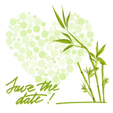 love tree: Greeting wedding card with flower. Illustration