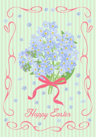 festive: Festive Easter card in vintage style. Vector illustration