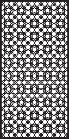 gratings: Rectangular lattice pattern background  in arabic style. Arabesque. Good idea for metallic gratings with laser cutting. Vector illustration. Illustration