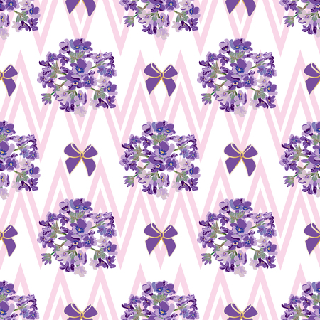 lavandula angustifolia: Seamless Lavender flowers background. Botanical illustrations are drawn by hand
