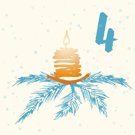 advent calendar: Page Advent Calendar 25 days of Christmas with space for text. Template vector illustration