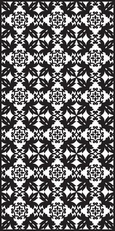 gratings: Rectangular lattice pattern background in oriental style. Arabesque. Good idea for metallic gratings with laser cutting. Vector editable illustration Illustration