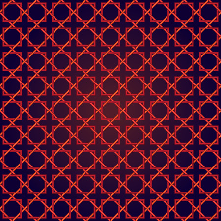 Abstract seamless patterns in Islamic style. Vector illustration