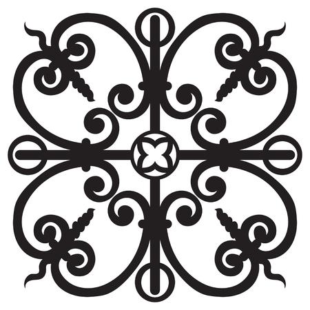 Dessin à la main pour les carreaux dans les couleurs noir et blanc. Style de majolique italienne. Illustration vectorielle Le meilleur pour votre design, textiles, affiches Banque d'images - 80765897