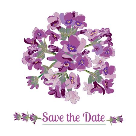 Lavender flower design