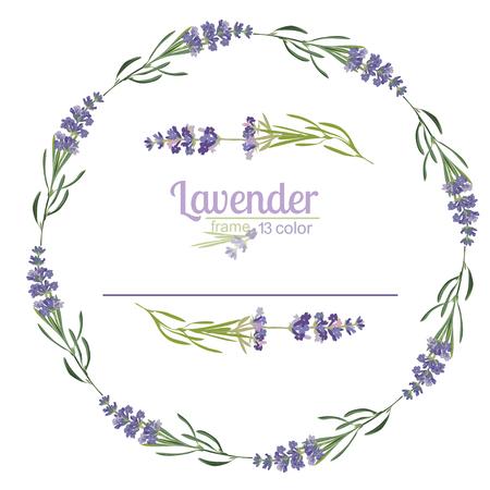 Violet Lavender beautiful floral frame template