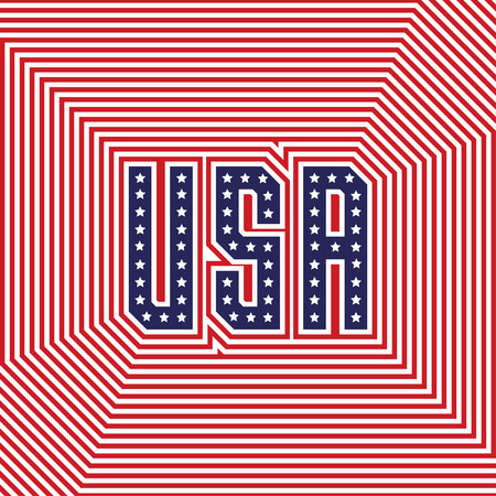 Slogan vector print for celebration design card in vintage style with text USA Vector illustration. American independence Patriot day background