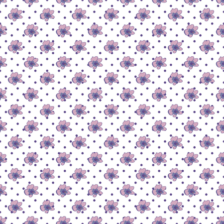 Modern watercolor style seamless pattern with lavender, texture background. Botanical illustration Provence, france Good idea for design paper, banner, print, card Vector illustration