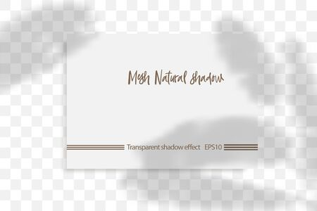 Stationery business branding mockup in realism style with transparent shadow light effect overlay. Mesh grid. Presentation your design card, poster, stories Photo realistic vector illustration