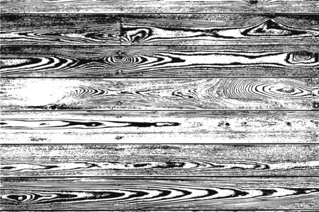 Natural wood wall texture isolated on white background. Seamless pattern Grunge effect Old vintage style vector illustrations