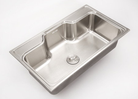 stainless steel sink: stainless steel sink with white background