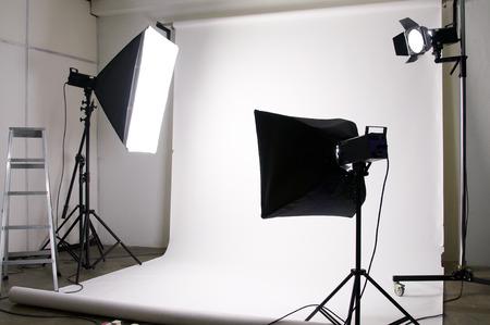 lights equipment in the photography studio Stock Photo