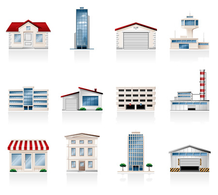 warehouse building: Buildings Illustration