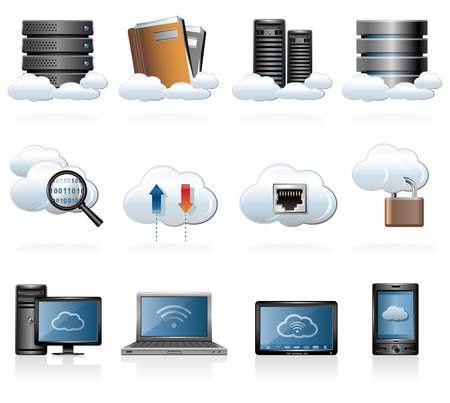 Cloud computing icons 免版税图像 - 34338332