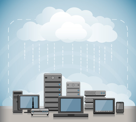 Cloud computing concept 矢量图像