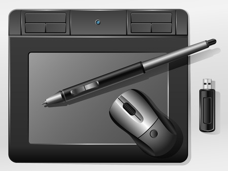 graphic tablet: Gr�fico Tablet  Vectores