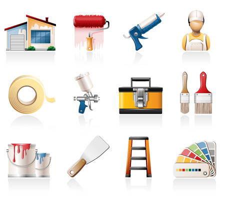 putty knives: House painting icons