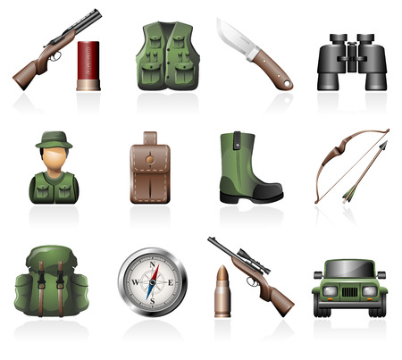 off road vehicle: Hunting icons