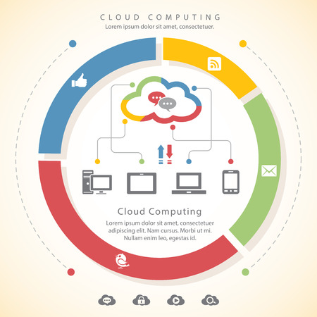 social networking: Cloud computing and social networking Vettoriali