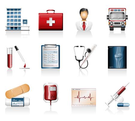 Medical icons Ilustrace