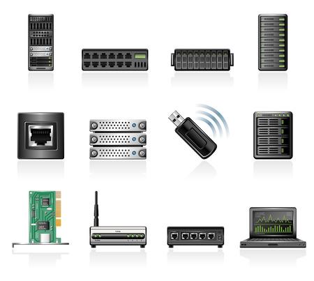 Network hardware icons