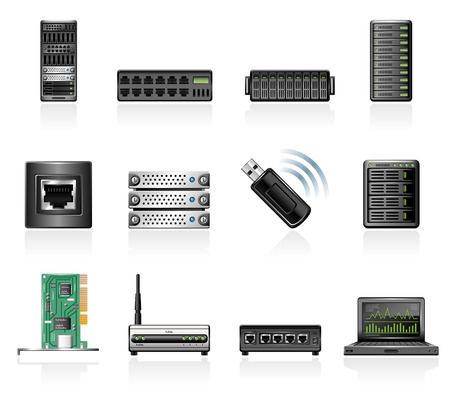 Network hardware icons