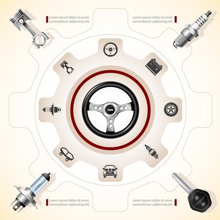 onderhoud auto: Auto Onderhoud Stock Illustratie