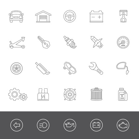 brake pad: Car maintenance icons