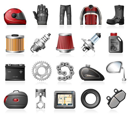 motorcycle helmet: Motorcycle parts and accessories icons