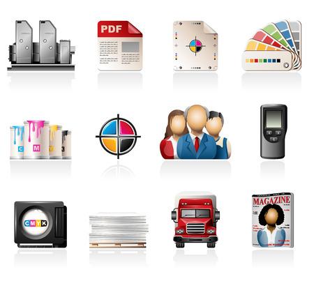 인쇄 아이콘을 오프셋
