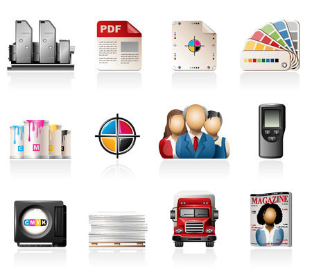 offset printing: Offset Printing Icons