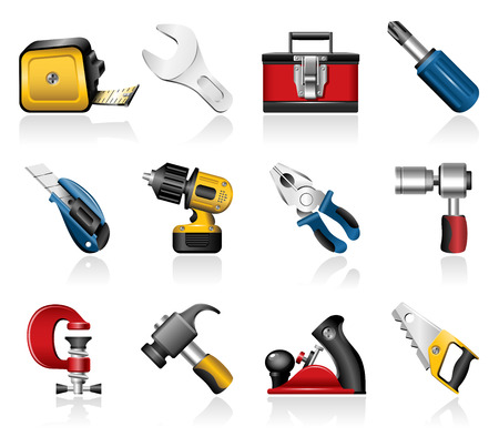Hand tools icons