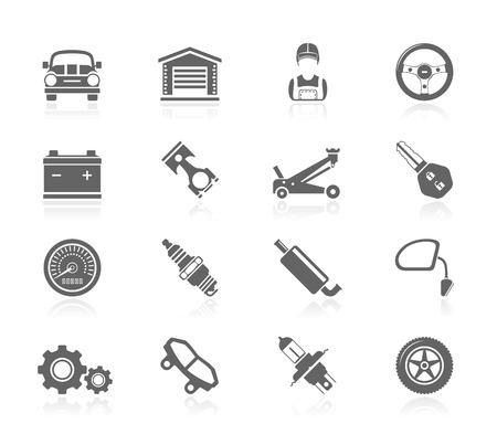 onderhoud auto: Black Icons - Onderhoud van de auto