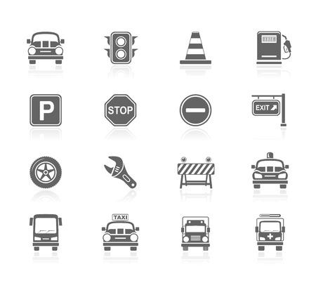 Black Icons - Traffic Illustration