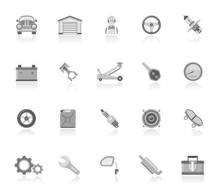 key pad: Car maintenance icons