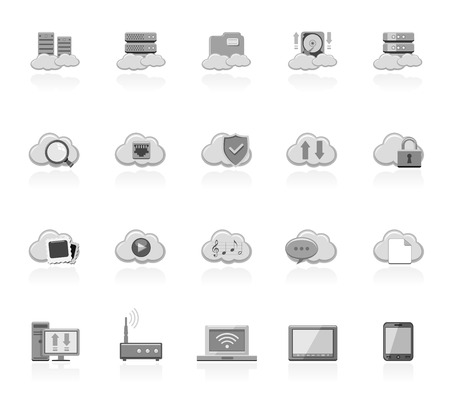 hard to find: Cloud computing icons