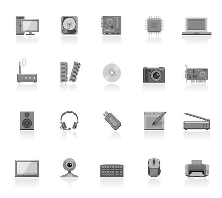Computer onderdelen pictogrammen