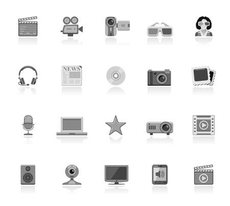 multimedia icons: Multimedia icons