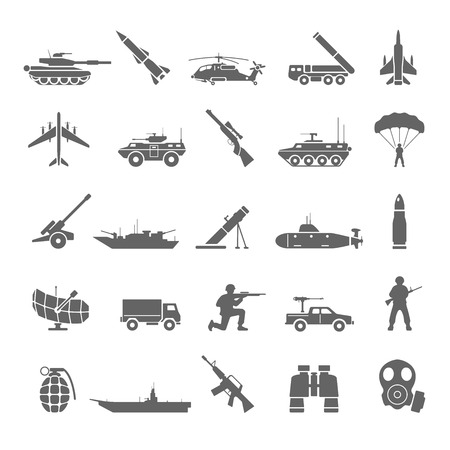 tanque de guerra: Iconos Militares Vectores