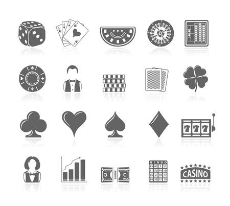 heart diamond: Black Icons - Gambling