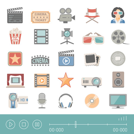director's chair: Flat Icons - Cinema Illustration