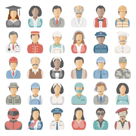 Vlakke pictogrammen - mensen