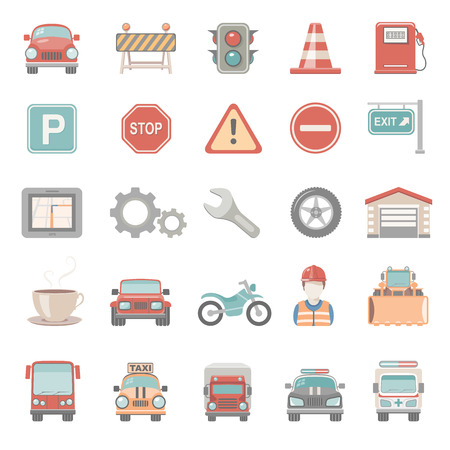 Flat Icons - Traffic Illustration
