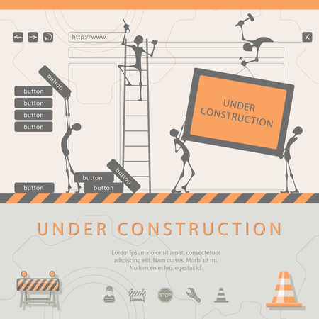 web  web page: Under construction concept