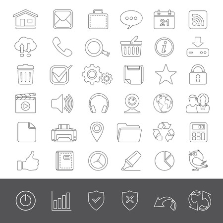 Universal web icons Ilustrace