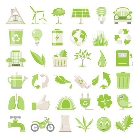 Flat Icons  Environmental Conservation