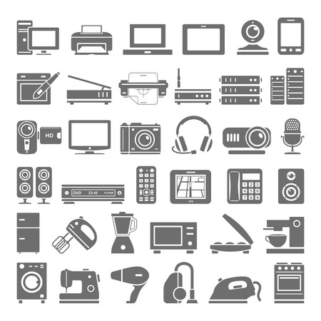 Electronic devices and home appliance icons